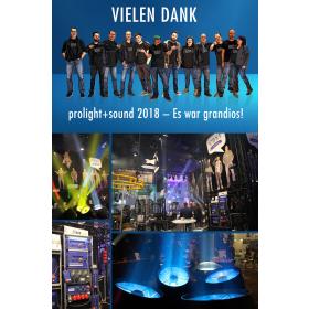 Erfolgreiche Prolight + Sound 2018 für cast