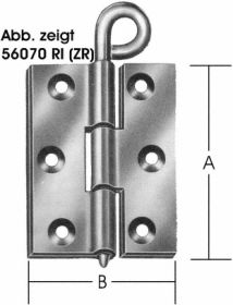 Geschlagene Kulissenscharniere DIN 56923, 2 mm Axialspiel