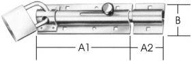 Bolzen-Türschloßriegel