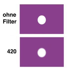 LEE Diff.-Filter-Rolle Nr. 420 Light Opal Frost