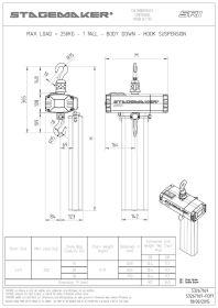 Stagemaker Elektrokettenzug SR1 Serie D8 Plus