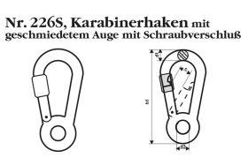 fiRSTstage Karabinerhaken Nr. 226S, ähnlich DIN 5299 E