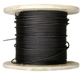fiRSTstage Rundlitzenseil DIN EN 12385-4, schwarz