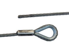 fiRSTstage Anschlagseil verzinkt, einseitig zylindrisch verpresster Kausche, verzinnt