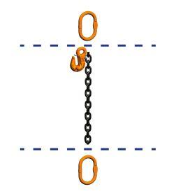 fiRSTstage Kettengehänge Einzelstrang AA-K, Ketten-Nenndicke 10 mm
