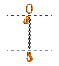 fiRSTstage Kettengehänge Einzelstrang AH-K, Ketten-Nenndicke 10 mm