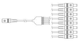 Gantom® Go Cable 8-fach DC-Kabel Splitter