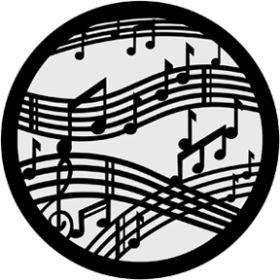 Rosco Metallgobo 71020 ( DHA # 1020) Dancing Music