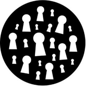 Rosco Glasgobo 77581 ( DHA # 581) Keyholes
