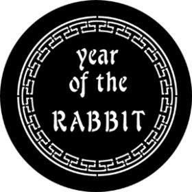 Rosco Cool Ink Gobo 77652 ( DHA # 652) Year Of The Rabbit