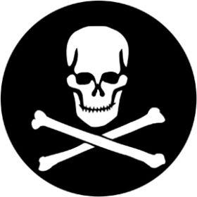 Rosco Glasgobo 77949 ( DHA # 949) Skull & Crossbones