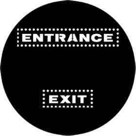 Rosco Metallgobo 77971 ( DHA # 971) Exit/Entrance
