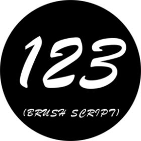 Rosco Glasgobo 78262 ( DHA # 8262) Brush Script Numbers