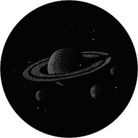 Rosco Glas-Gobo GT25 ( GAM # T25) Saturn with Stars