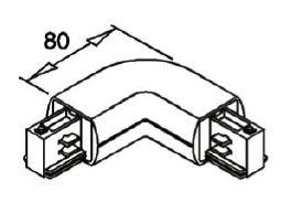 alcor Zubehör Stromschiene rund; Eckverbinder A