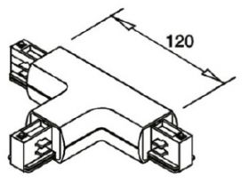 alcor Zubehör Stromschiene rund; T-Verbinder R