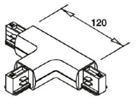 alcor Zubehör Stromschiene rund; T-Verbinder L