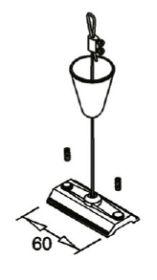 alcor Befestigungsplatte für 3~ Stromschiene, alu roh