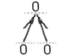fiRSTstage Kettengehänge Doppelstrang AA-K, Ketten-Nenndicke 8 mm